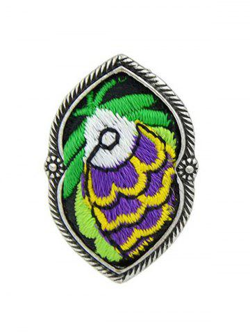 Sale Ethnic Style Embroidery Fish Pattern Ring