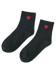 Small Heart Pattern Knitted Ankle Socks -