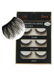 Professional 3Pcs Natural Effect Volumizing Makeup Fake Eyelashes -