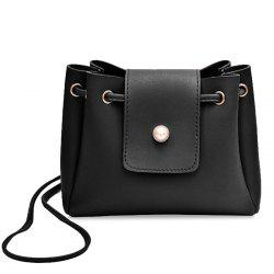 Faux Pearl Decorative Small Crossbody Bag -