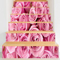 Valentine's Day Roses Pattern Decorative Stair Stickers -