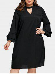 Plus Size Swing Keyhole Dress -