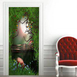 Fantasy Forest Pattern Door Art Stickers -