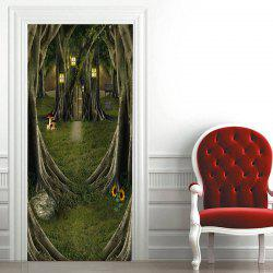 Autocollants de porte décoratifs Fairytale Tree House -