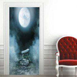 Moon Night Patterned Decorative Door Stickers -