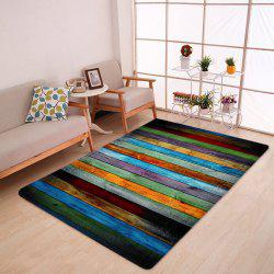 Colorful Stripe Coral Velvet Large Area Rug -
