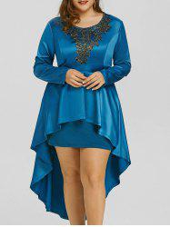 High Low Lace Plus Size Formal Dress -