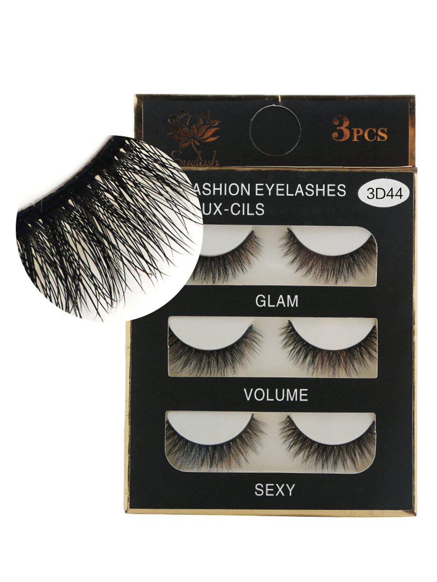 Sale Professional 3Pcs Natural Effect Volumizing Makeup Fake Eyelashes