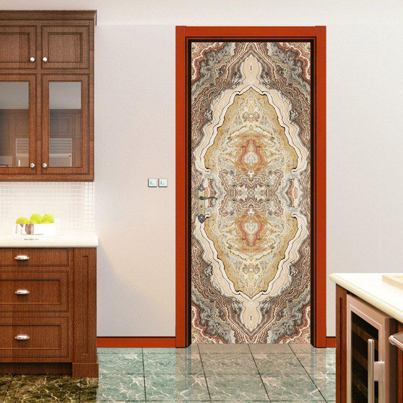 Chic Marbling Pattern Door Art Stickers