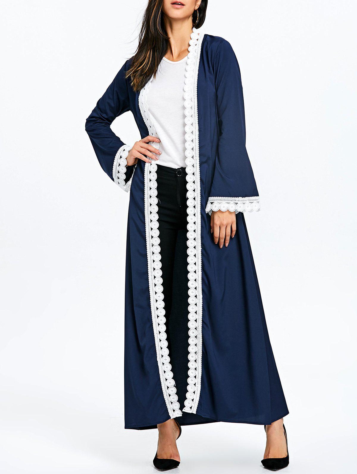 Affordable Maxi Arabic Coat with Tie Belt
