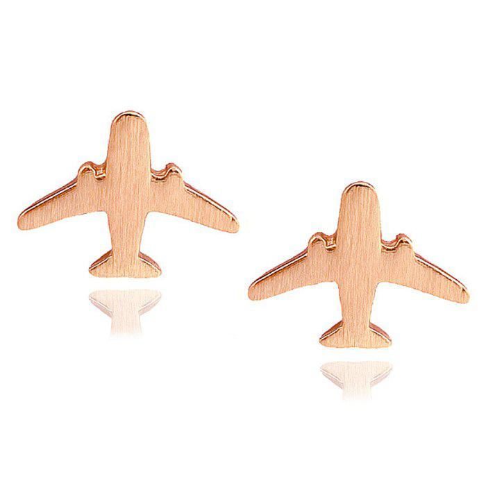 Chic Aircraft Pattern Stud Earrings