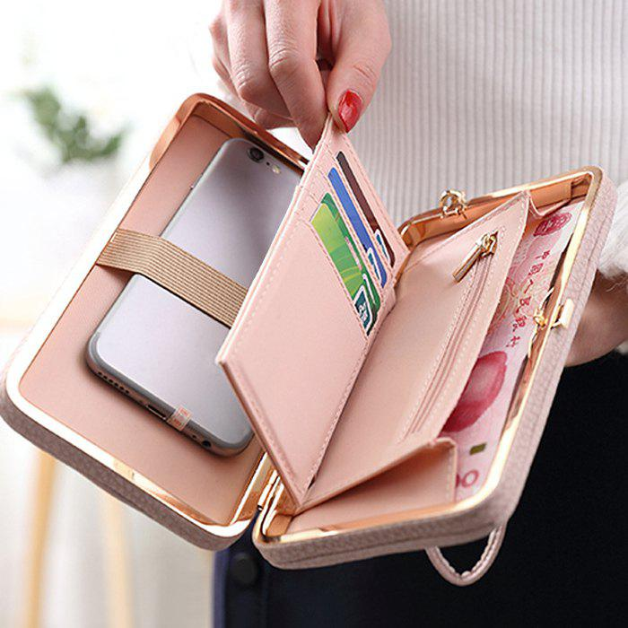 Sale PU Leather Bow Clutch Wallet