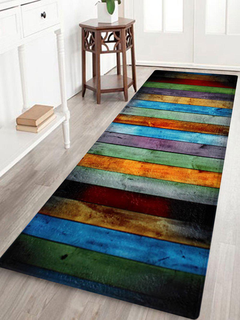 2018 Colorful Stripe Coral Velvet Large Area Rug In