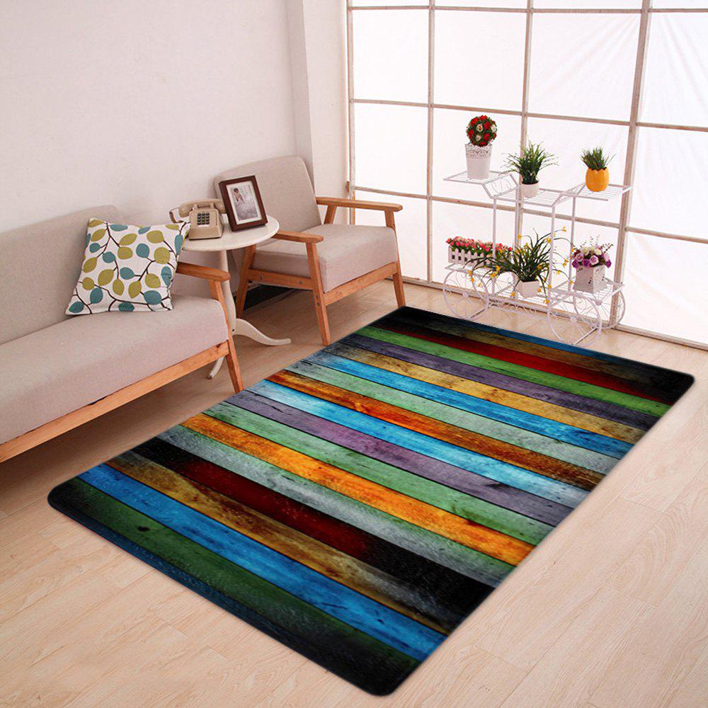 Latest Colorful Stripe Coral Velvet Large Area Rug