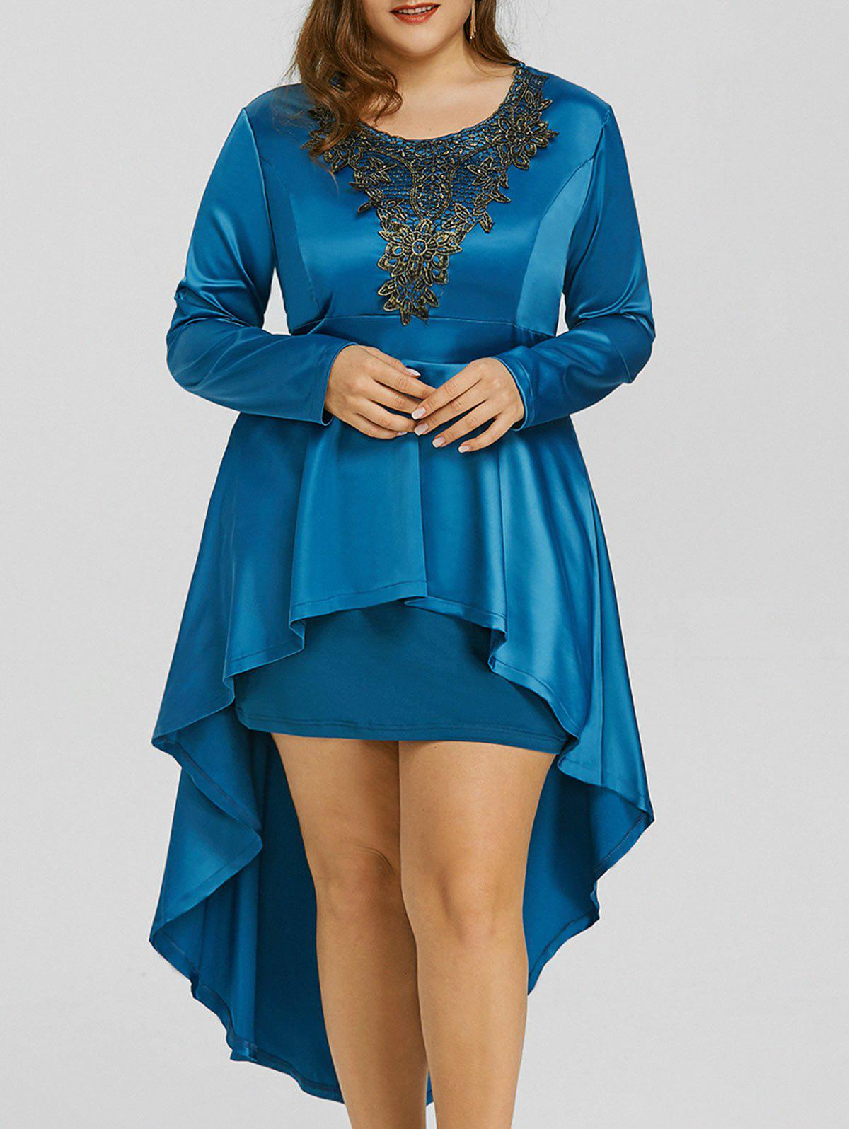 Discount High Low Lace Plus Size Formal Dress
