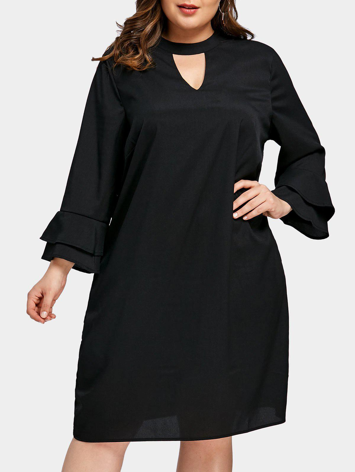 Store Plus Size Swing Keyhole Dress
