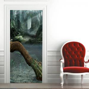 Ruined Walls and Dead Tree Pattern Door Stickers -