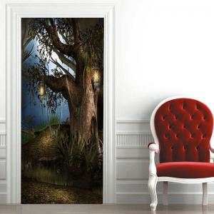 Tree Pattern Door Art Stickers -