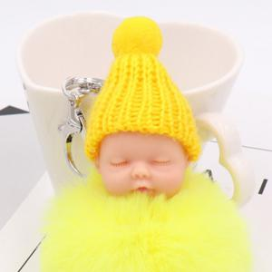 Little Sleep Baby Fluffy Cute Keychain -