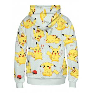 Long Sleeve Cartoon Characters Pattern Pullover Hoodie -