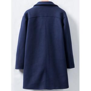 Horn Button Longline Woolen Coat -
