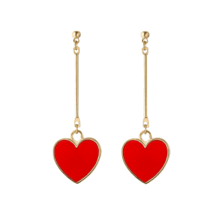 Valentine's Day Heart Drop Earrings -