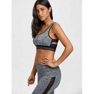 Padded Strappy Sports Bra -