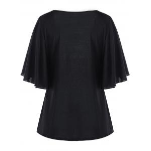 Plus Size Rose Bell Sleeve T-shirt -