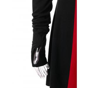 Plus Size Two Tone Hooded Coat -
