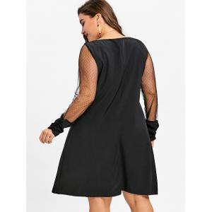 V Neck Lace Panel Plus Size Tunic Dress -
