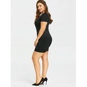 Plus Size Cutout Overlap Fitted Dress -