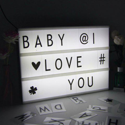 Valentine Birthday Gift DIY Cinematic Letters Light Box - White