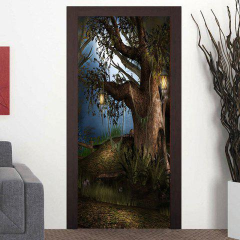 Store Tree Pattern Door Art Stickers