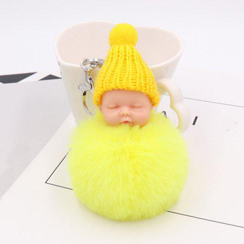 Chic Little Sleep Baby Fluffy Cute Keychain