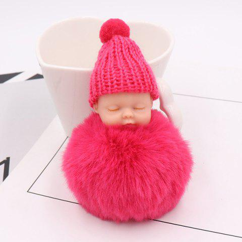 Unique Little Sleep Baby Fluffy Cute Keychain