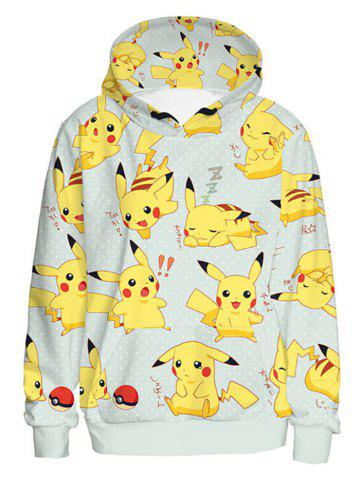 Fashion Long Sleeve Cartoon Characters Pattern Pullover Hoodie