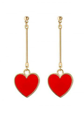 Trendy Valentine's Day Heart Drop Earrings
