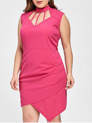 Online Cut Out Asymmetrical Plus Size Dress