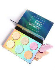Professional 6 Colors Natural Color Long Lasting Highlighter Palette -