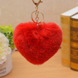 Valentine's Day Gift Heart Shape Fluffy Keychain -
