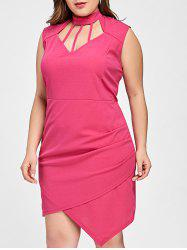 Cut Out Asymmetrical Plus Size Dress -