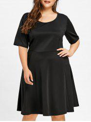 Scoop Neck A Line Plus Size Dress -