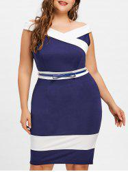 Plus Size Cap Sleeve Sheath Dress -