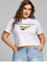 Plus Size Banana Graphic Crop Tee -