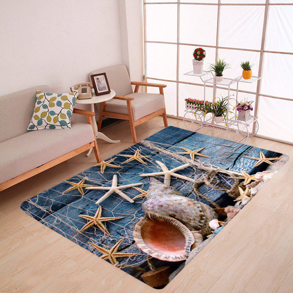 Outfits Velvet Starfish Conch Floor Area Rug