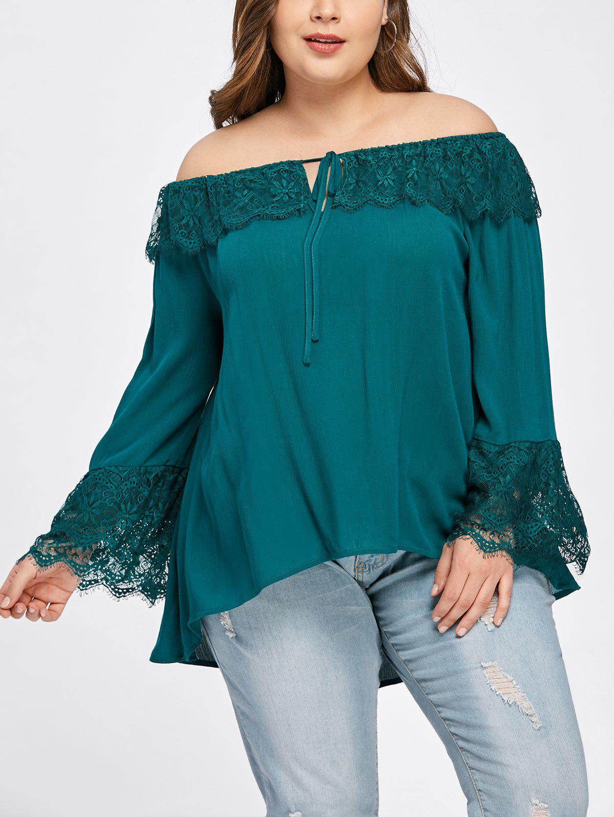 Shops Plus Size Overlay Off The Shoulder Blouse