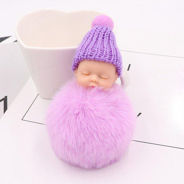 Fashion Little Sleep Baby Fluffy Cute Keychain
