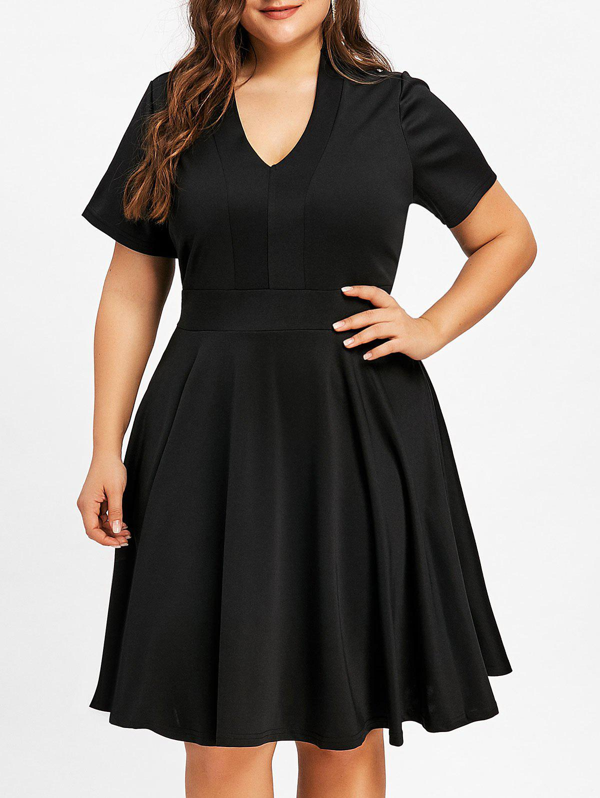 Trendy Plus Size Empire Waist V Neck Dress