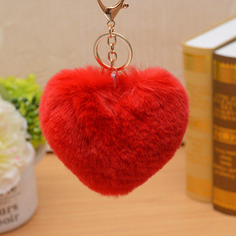 Affordable Valentine's Day Gift Heart Shape Fluffy Keychain