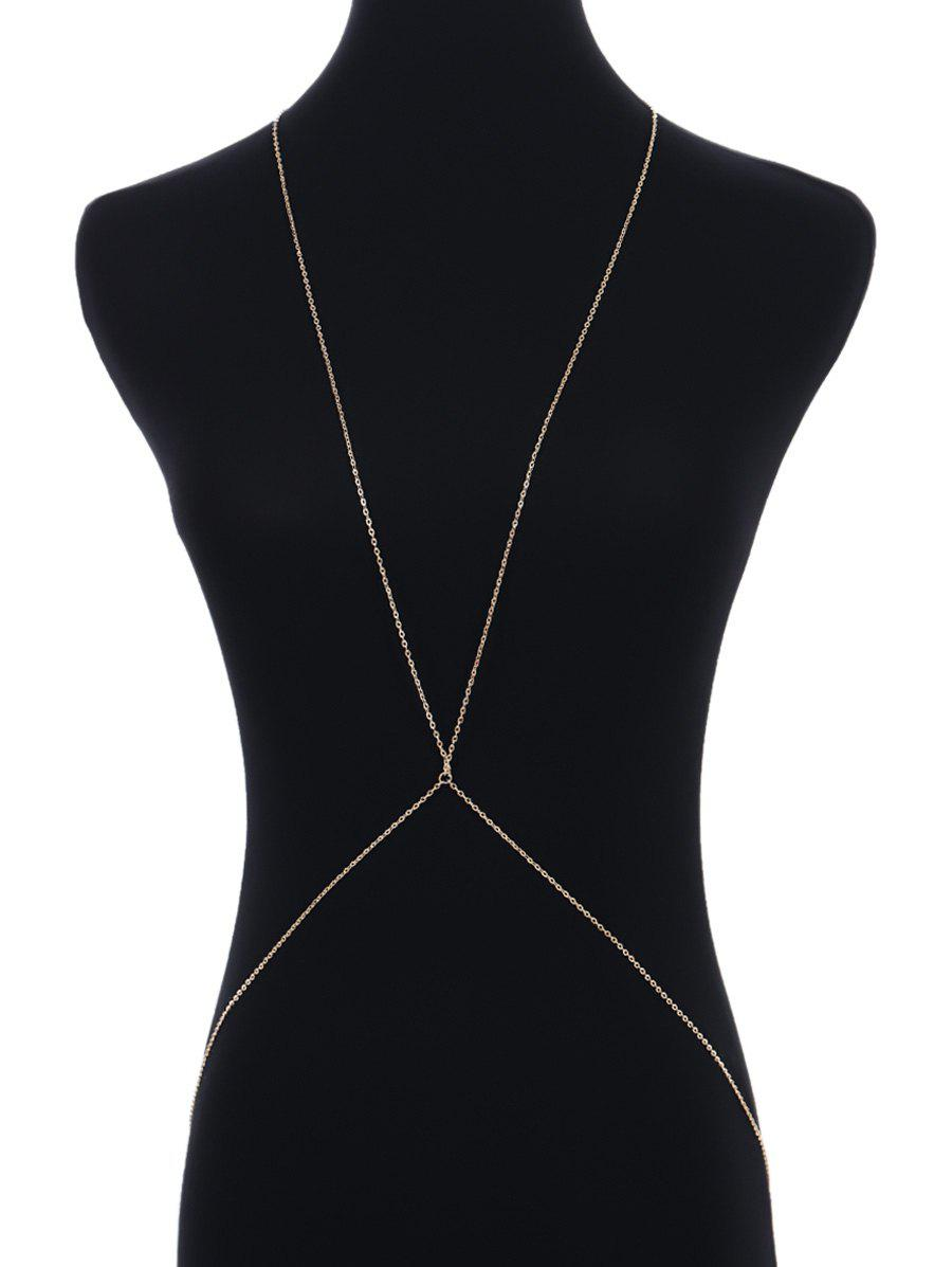 Online Alloy Simple Body Chain